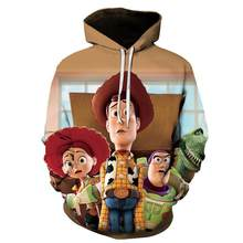 Cartoon cartoon toy story 4 3D hooded jacket clothing woody members print men's and women's hooded sweatshirts(China)