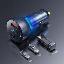 Автомобильное зарядное устройство Baseus 65 Вт, быстрая зарядка 4,0 3,0 USB, зарядное устройство для телефона Huawei SCP QC4.0 QC3.0 Type C PD, быстрая зарядка в ав...