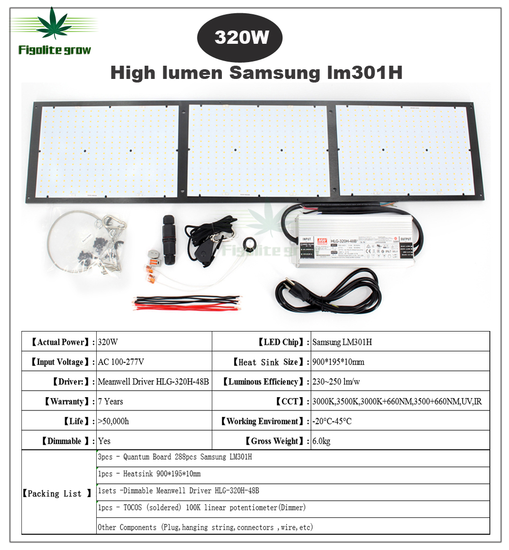 QUANTUM GROW LIGHT 2000w+660nm V3 LM301H, rspec ,Meanwell HLG driver,SAMSUNG