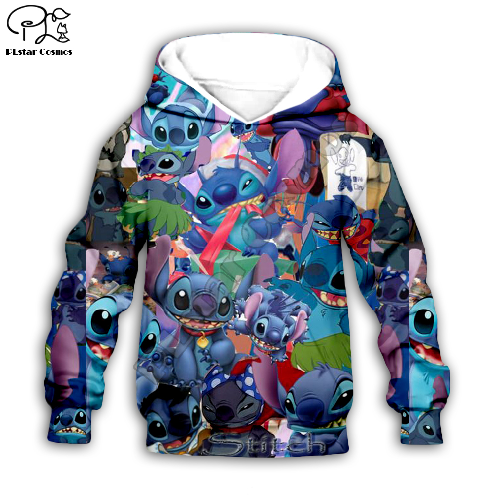 Kids Cloth Anime Kawaii Lilo Stitch 3d Hoodies/boy Sweatshirt Cartoon Hot Movie Style-8