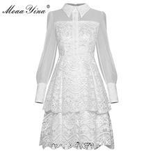 Модельное платье moaayina весенне летнее женское кружевные лоскутные