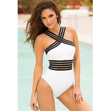 Sexy Hollow Out White One Piece Swimsuit Cut Out One-Piece Suit Solid Bandage Swimwear Women Bathing Suit Bikini Maillot De Bain white strappy bra cut out caged women sexy bikini set two piece swim suit women swimwear backless bathing suit