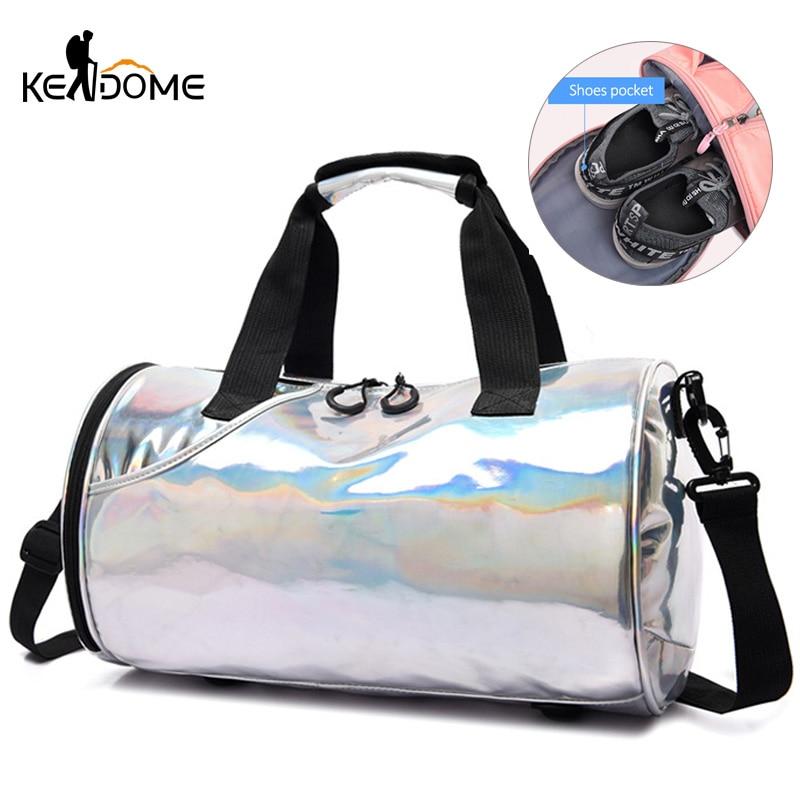 Sports Women Fitness Gym Bag Travel Duffel Shoulder Handbag Dry And Wet Trip Blaso Ladies Yoga Mat Bags Training Gymtas XA134D
