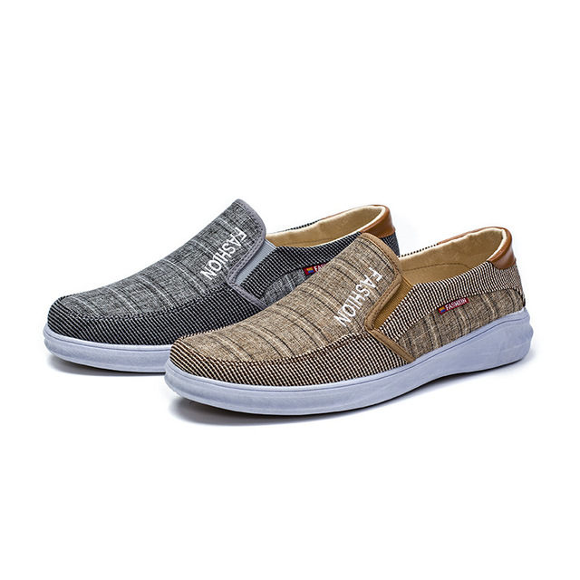 BJYL New canvas fashion sneakers men's casual belt light shoes comfortable breathable walking shoes Zapatillas Hombre M1317 5