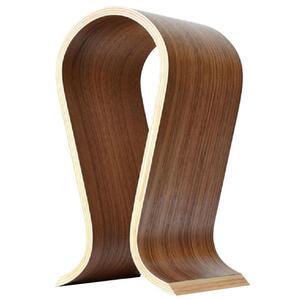 Image 2 - Wooden U Shape Headphone Stand Classic Walnut Headphone Holder Finish Headset Hanger Home Office Studio Bedroom Fashion Display