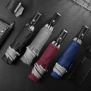 Foldable Automatic Umbrella with Reflective Strips