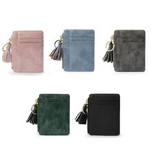 2020 Mini Slim Women Wallet Short Bag  High Quality Small Pu Leather Credit Card Holders Thin Tassel Zipper Wallets Coin Pocket the new wallets for men coin pocket wallet id credit card ultra thin short sequined pu high quality fabric money dollar coin bag