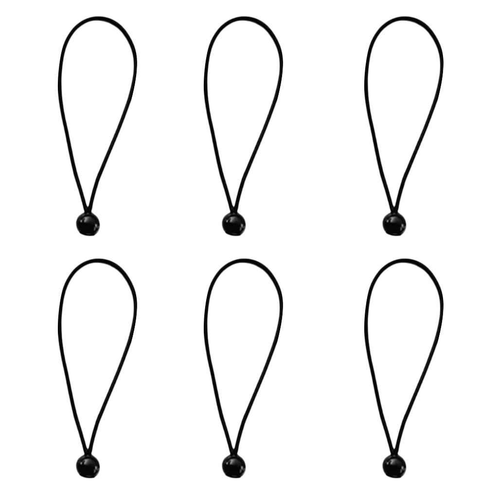 6 قطعة 5.9 بوصة الكرة مرساة قماش القنب القماش المشمع سارية علم بنجي الحبل العلاقات الحبل ينتهي حبل مرن