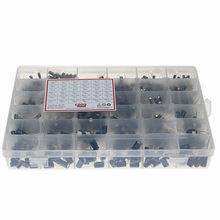 1000 pces 36 valores 0.1uf 50v-1000uf 16v capacitores 4.7uf 10uf 22uf 33uf 47uf kit caixa de sortimento do capacitor eletrolítico