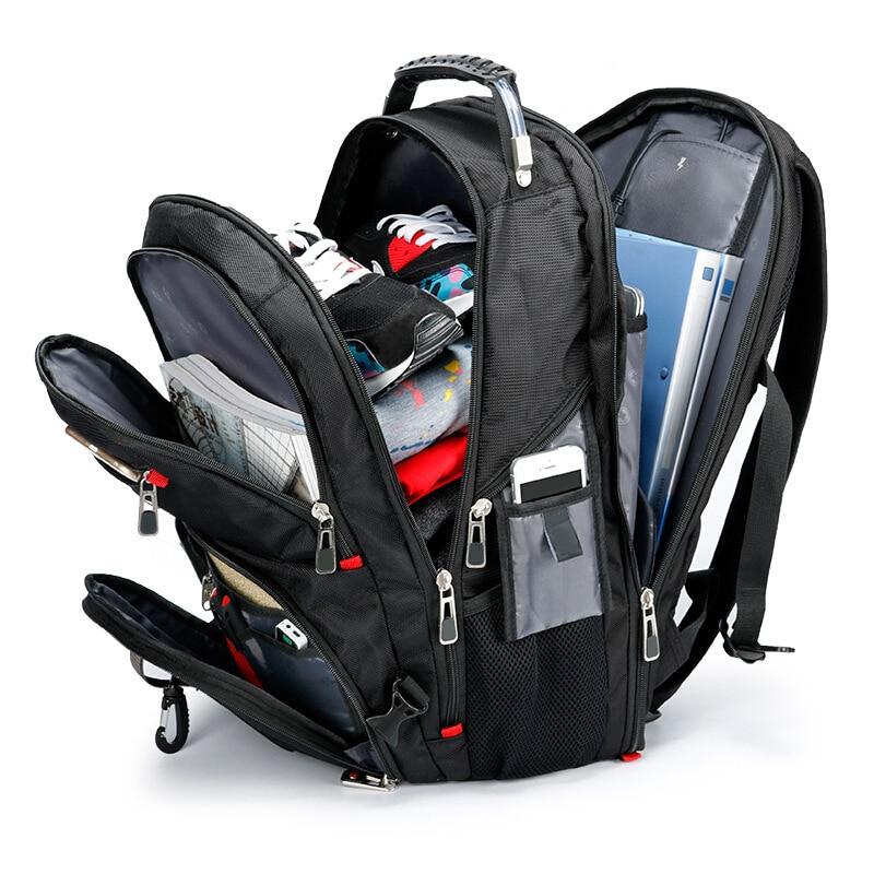 Brand Swiss Laptop 15.6 Backpack External USB Charge Swiss  Computer Backpacks Anti theft Backpack Waterproof Bags for Men  WomenBackpacks