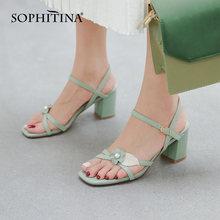 Женские босоножки с открытым носком sophitina летние повседневные