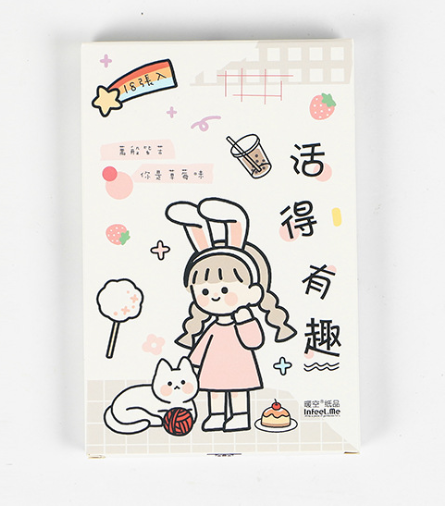 Funny Life Paper Postcard(1pack=18pieces)