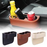 Faux Leather Car Drive Seat Gap Filler Storage Box Bottle Phone Holder Organizer Stowing Tidying    -