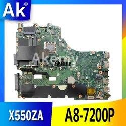X550ZA Laptop Moederbord Voor Asus X550ZE X550ZA K550Z A555Z VM590Z A8-7200P Lvds Originele Mianboard 100% Test Ok