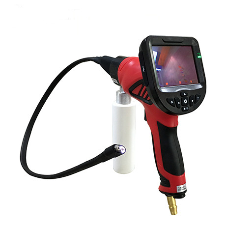 Auto Engine Flexible Inspection Camera Se-mi Rigid Tube Dual Lens Handheld Gun Video Endoscope Evaporator Cleaner Car Tool image