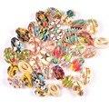 34 узора 5 шт свободные красочные цветочные бусины из натуральных раковин для самостоятельного изготовления ювелирных изделий TRS0356
