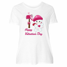 Inktastic Happy Valentine'S Day Women'S Plus Size T-Shirt Snow Baby Love Hearts M Xl 2Xl 10Xl Tee Shirt(China)