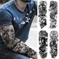 Большой татуировки «рукава» самолет солдат пилот Водонепроницаемый временная татуировка стикер парусные компас для боди-арта Полный Подд...