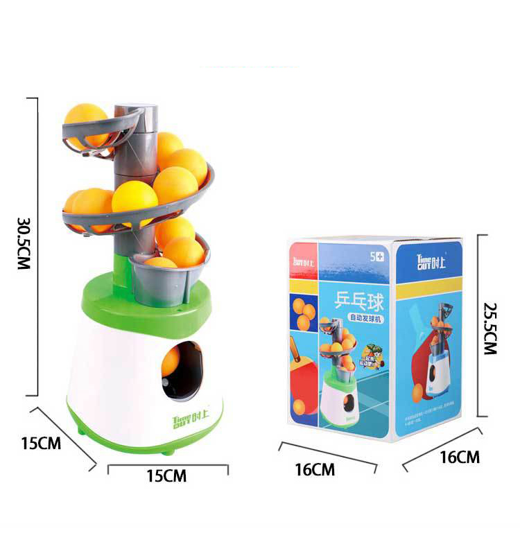 Купить с кэшбэком 4*AA Mini Table Tennis Robot Parent-child Student Sender Pitching Serve Machine Trainer Gift Racquet Sport 40+ Ping Pong Balls