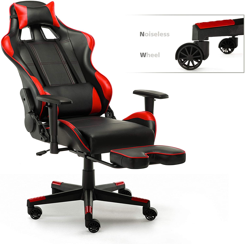 Интимное компьютерное кресло WM с сердцем, Гоночное игровое кресло из искусственной кожи, подголовник и поясничная Подушка, вращающееся нас