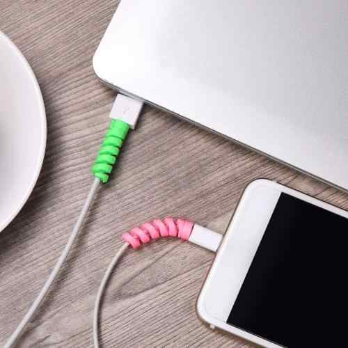 Spiral Kabel Für iphone se 6 7 8 plus xs max Mini USB Kabel Abdeckung Fall Für Huawei p20 30 mate 10 lite p smart Schutz