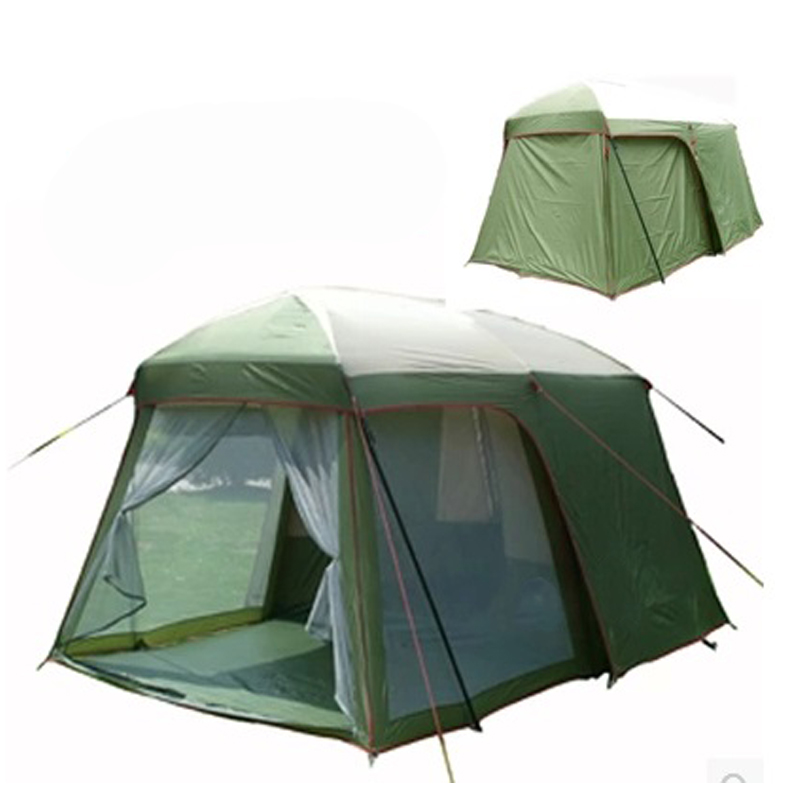 2014 Hot sale outdoor 5-8 persons beach camping tent anti/proof storm/rain UV/waterproof 1room 1hall for sale/on sale