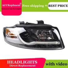 עבור אאודי A4 B6 2001 2004 פנסים כל LED פנס DRL דינמי אות Hid ראש מנורת Bi קסנון קרן אביזרי רכב סטיילינג