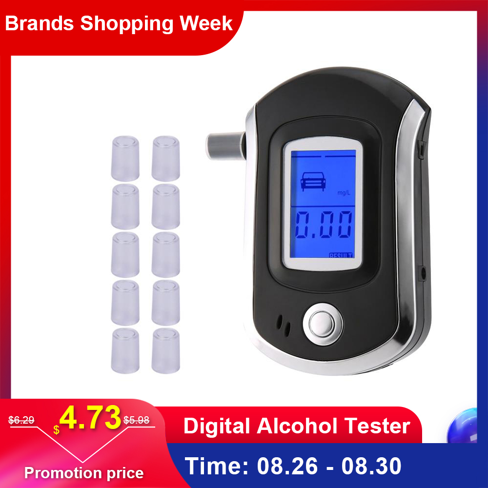 Breath-Alcohol-Tester Mouthpieces-At6000 Professional Dispaly Digital with LCD Dfdf Hot-Selling