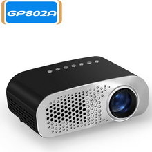 GP802A HD Projector Mini Portable Video Projector LED with Built-in Speaker Support USB / SD for Home Theater Entertainment