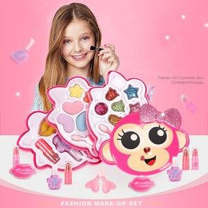 Image 1 - 子供のおもちゃセットふりプレイ王女ピンクメイク美容安全非毒性キットのおもちゃ女の子ドレッシング化粧品ガールギフト