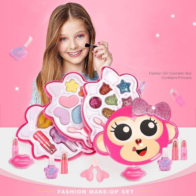 子供のおもちゃセットふりプレイ王女ピンクメイク美容安全非毒性キットのおもちゃ女の子ドレッシング化粧品ガールギフト