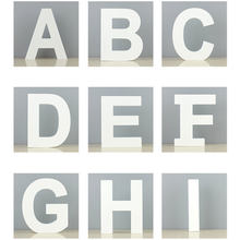 1 Pc White Wooden Letters Height 11cm Home Decoration Accessories DIY Personalised Name Props Wedding Birthday Party Decor