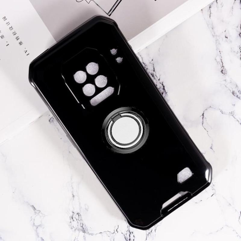 Для Ulefone Power 9E 9 6,3 дюймов задняя крышка с кольцом-держателем кронштейна чехол для телефона из силикона и ТПУ для крышка