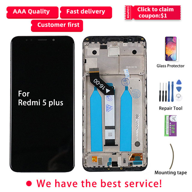 LCD For Redmi 5 Plus LCD Display Touch Screen With Frame IPS Original MEG7 MEI7 For Xiaomi Redmi 5 Plus Display Replacement