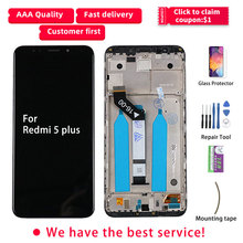 LCD para Redmi 5 Plus pantalla táctil LCD con marco IPS Original MEG7 MEI7 para Xiaomi Redmi 5 Plus reemplazo de pantalla