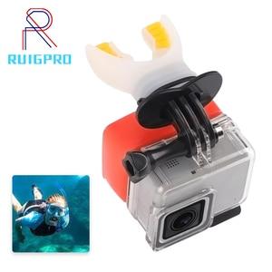 Image 1 - Câmera de ação surf boca montagem para gopro hero 9 8 7 5 6 4 preto prata sessão xiaomi 4k sjcam sj8 7 h9 go pro surf acessório