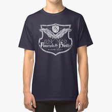Flourish And Blotts T - Shirt Voldemort School Wizard Wand Magic Rowling Mungos Diagon Alley Knockturn Triwizard(China)