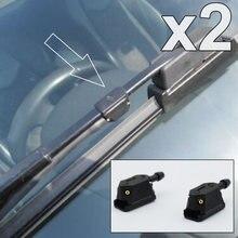 Boquilla Universal frontal para limpiaparabrisas, boquilla de chorro de 4 vías, Ajustable, se adapta a ventanas de limpieza de brazos de 9mm, 8mm de ancho y 4mm de grosor
