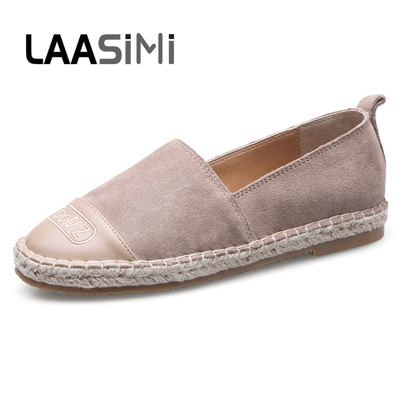 LAASIMI Basic 3 Colors Women Flats Shoes Fashion Espadrilles Shoes Woman Casual Ladies Shoes Spring Autumn Women Loafers Flock