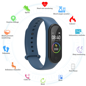 2020 M4 Smart Watch Band Fitness Bracelet Trcker Sport Pedometer Heart Rate Blood Pressure Bluetooth Health Wirstband SmartWatch