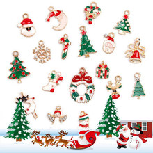1Set High Quality DIY Home Decorations Metal Christmas Pendant Christmas Party Xmas Tree Ornaments Creative Crafts Kids Gift(China)