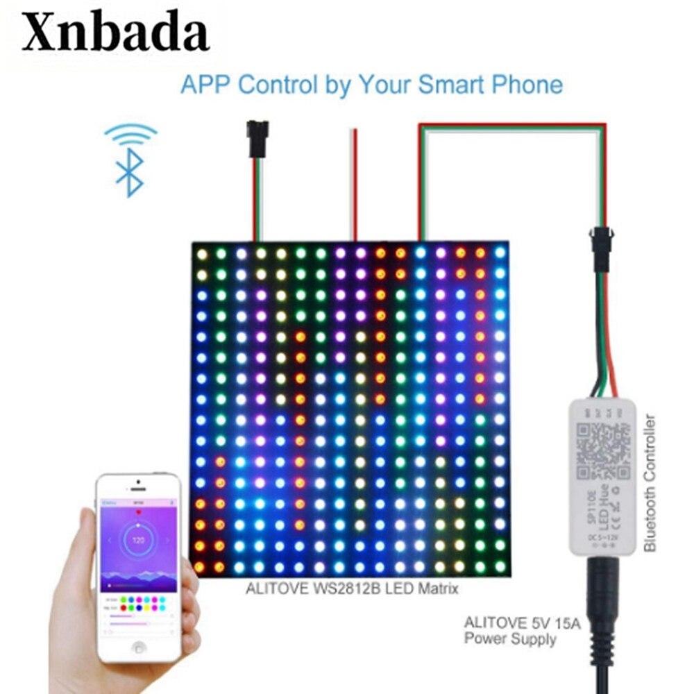 Светодиодный светильник SP110E WS2811 WS2812B WS2812 RGB RGBW APA102 WS2801 Светодиодные полосы IOS Android