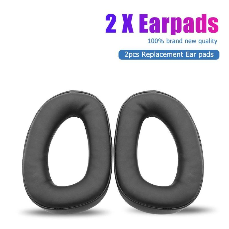 2pcs Replacement Earpads for Sennheiser GSP 300 301 302 303 350 Headphones memory foam sponge arrtificial leather Headset Pads