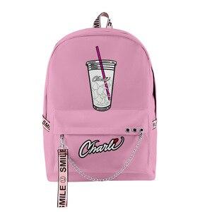 Новинка, рюкзаки Charli amielio, сумки, аксессуары для ключей, сумка для мальчиков и девочек, рюкзаки Charli DAmelio Merch карамельных цветов, рюкзак