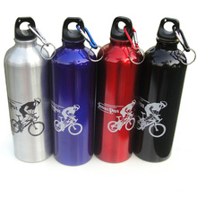New sports bike riding Water Bottle 400-750ml outdoor portable aluminum camping climbing Water Bottles Explosive sales  3 new 400 600ml 3 color solid plastic spray cool summer sport water bottle portable climbing outdoor bike shaker my water bottles