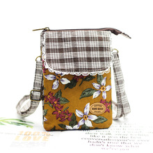 Хлопковый с цветочным принтом женский кошелек для монет детский Органайзер Кошелек сумка для денег мини-чехол для телефона bolsa carteira feminina для девочек