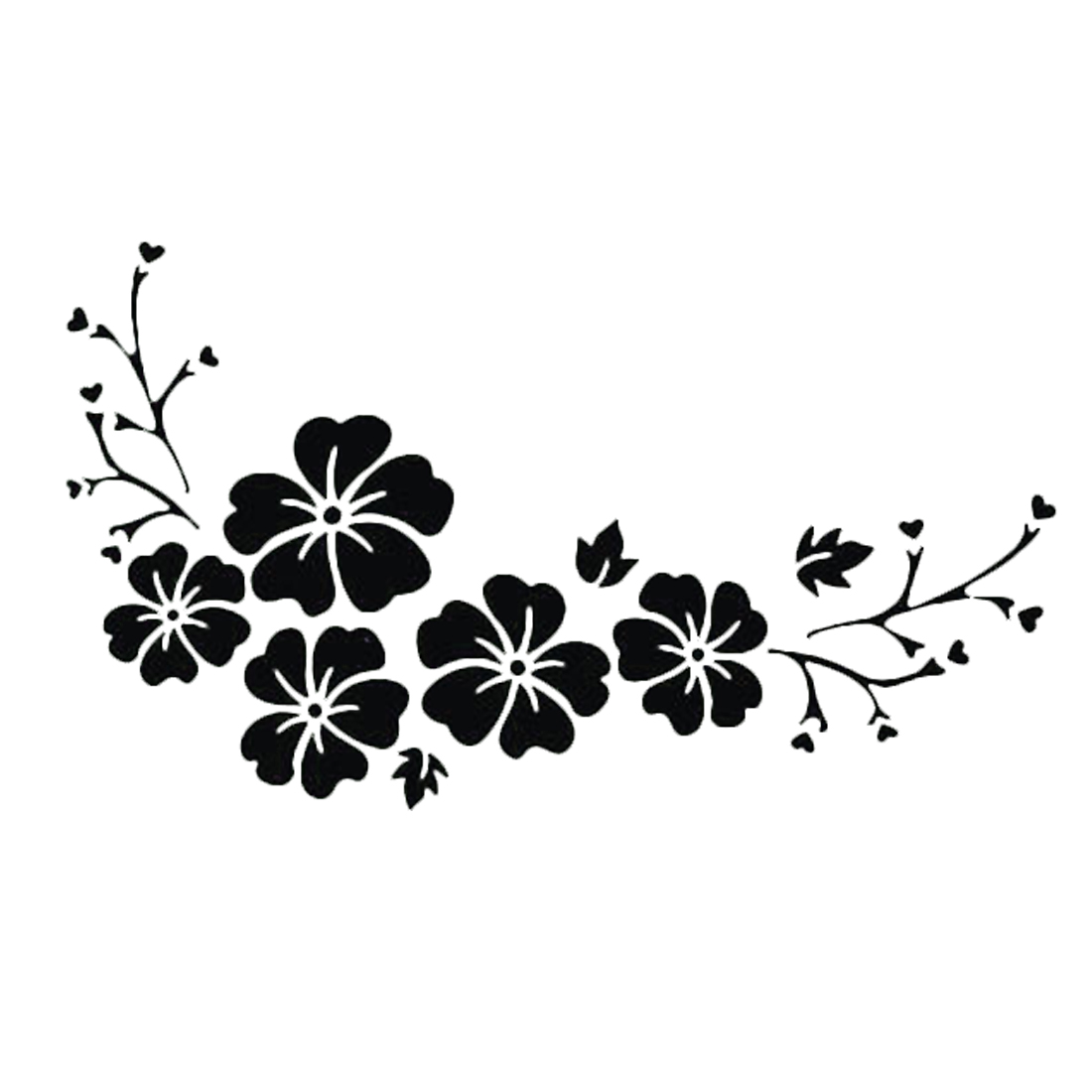 DAWASARU Waterproof Sticker Engraving Flower Pattern Car Sticker Delicate Decal Car Window Wall Bumper Decal Custom 15*7 CM
