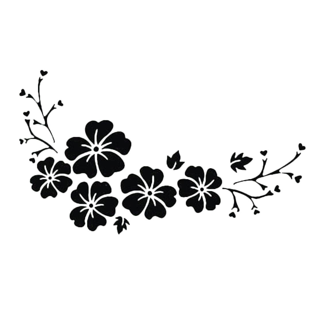 DAWASARU Waterproof Sticker Engraving Flower Pattern Car Sticker Delicate Decal Car Window Wall Bumper Decal Custom 15*7 CM