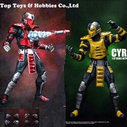 IN magazzino 1/12 CYRAX Mortotal Kombat/DCMK002 Mortal Combattimento Figura Set di 6 ''Doll Model Collection regalo di festa