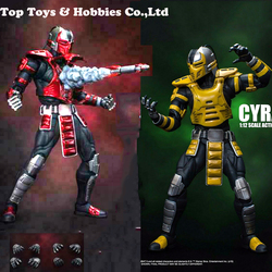 IN stock  1/12 CYRAX Mortotal Kombat  / DCMK002 Mortal Combat  Figure Set 6'' Doll Model  Collection holiday gift